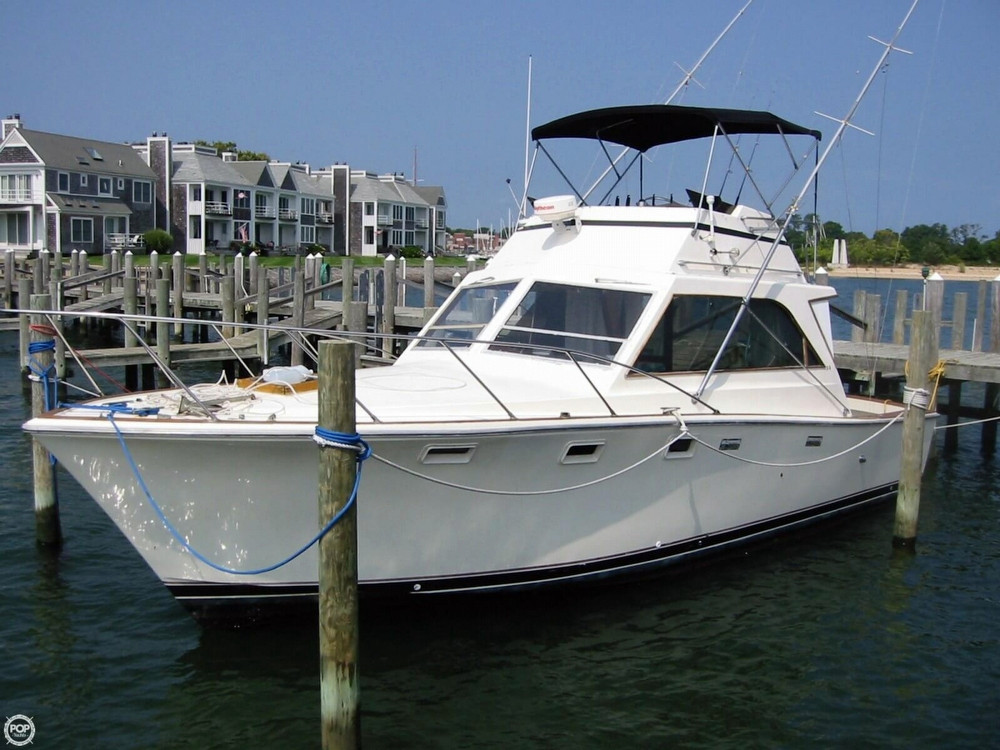 1973 Used Pacemaker 36 Sports Fishing Boat For Sale