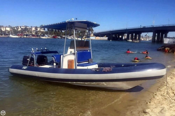 Used Hbi 20.6 Rigid Inflatable Boat Center Console Fishing Boat For Sale