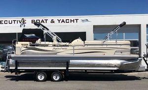 Used Aqua Patio 240 Deluxe Fish Triple Toon Pontoon Boat For Sale
