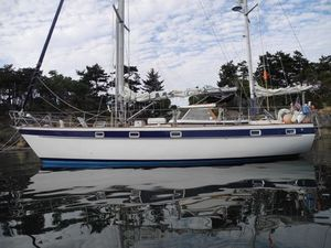 Used Hallberg-Rassy 42E Hard Top Ketch Hull #70 Racer and Cruiser Sailboat For Sale