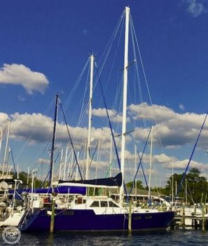 Used Bruce Roberts Steel 43 Pilothouse Racer and Cruiser Sailboat For Sale