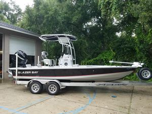 Used Blazer Bay 2220 Fisherman Saltwater Fishing Boat For Sale