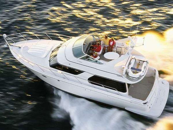 Used Carver 450 Voyager Pilothouse Flybridge Boat For Sale