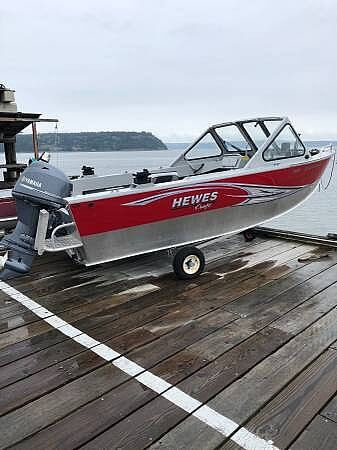 Used Hewescraft 16 Sportsman Aluminum Fishing Boat For Sale