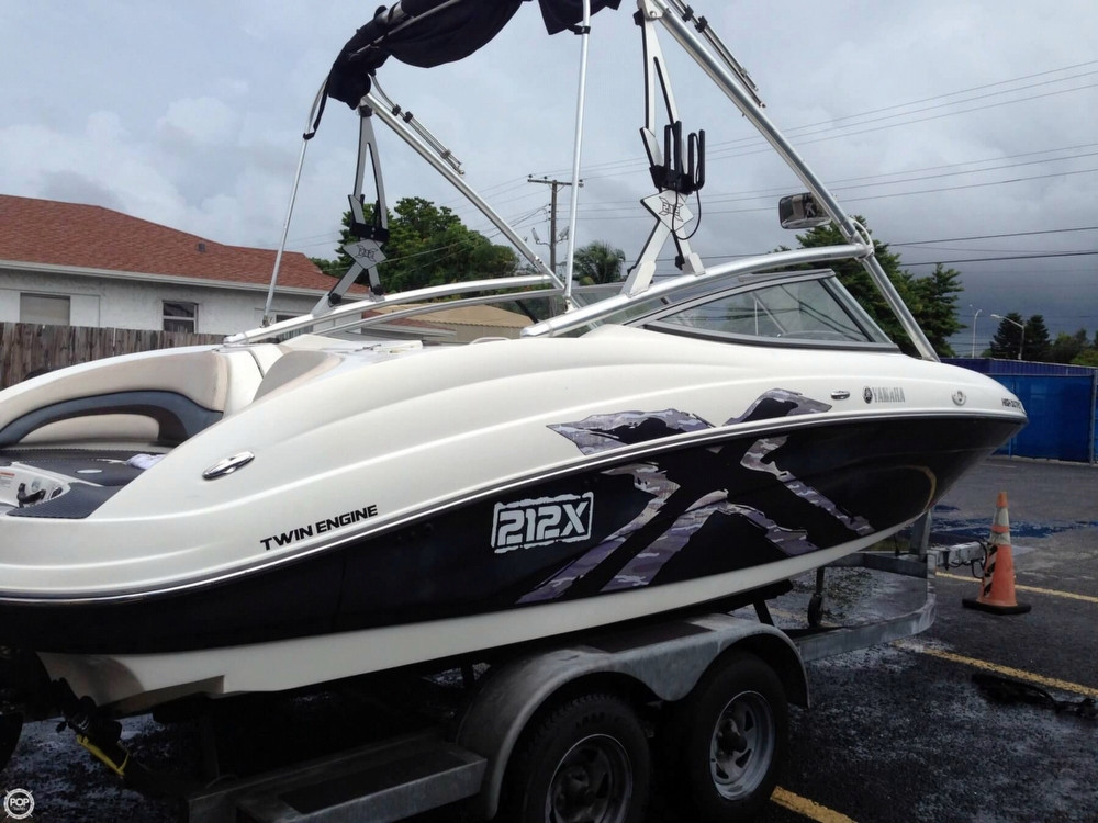 2008 used yamaha 212x ski and wakeboard boat for sale