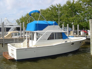 Used Chris-Craft 350 Commander Sport Fish Convertible Fishing Boat For Sale