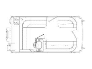 New Bennington 168 SLV - 8' Narrow Beam Pontoon Boat For Sale