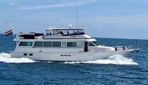 Used Hatteras 74 Cockpit Motor Flybridge Boat For Sale