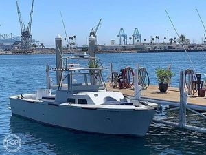 Used Uniflite 36' Converted Navy Landing Craft Pilothouse Boat For Sale