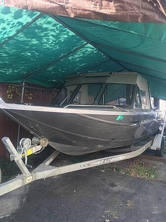 2000 Used Harbercraft 19 Aluminum Fishing Boat For Sale