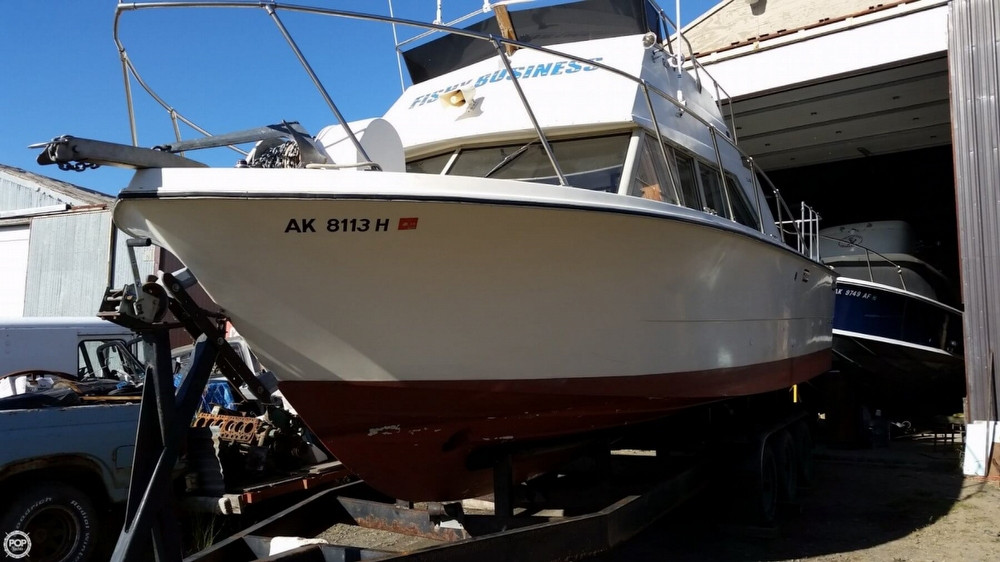 1980 used carver santa cruz 28 sports fishing boat for for Alaska fishing boats for sale