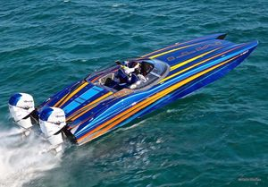 Used Mti 340X Power Catamaran Boat For Sale