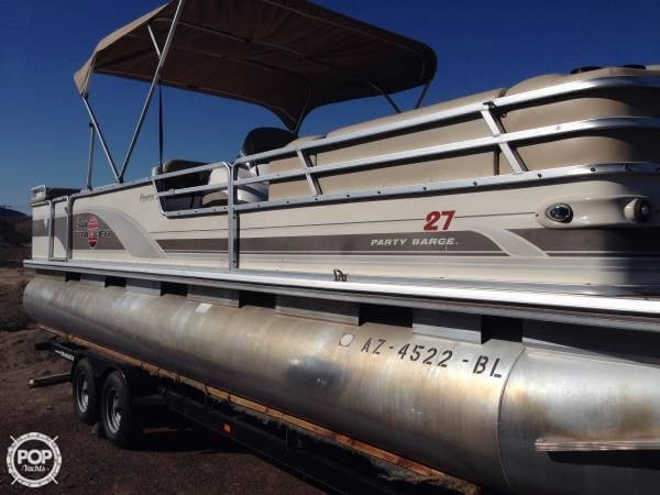 Used Tracker Party Barge 27 Regency Pontoon Boat For Sale