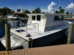 Used Liberty 39 Enclosed Silver Bullet Cargo Ship Boat For Sale