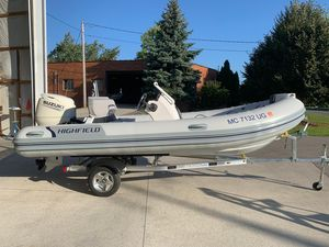Used Highfield 460 DL Rigid Sports Inflatable Boat For Sale