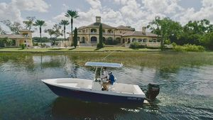 Used Custom Helms 21 Center Console Fishing Boat For Sale