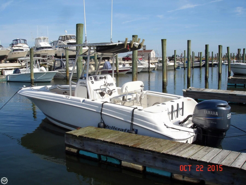 2007 used wellcraft 232 fisherman center console fishing for Fishing boats for sale nj