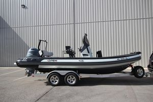 Used Zodiac Open 7 NEO W/ Trailer Rigid Sports Inflatable Boat For Sale