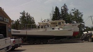 Used Young Brothers 35 Lobster Fishing Boat For Sale