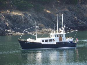 Used Custom Ostlund Steel Long Range Trawler Boat For Sale
