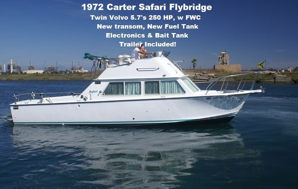 Used Carter Safari 28 Flybridge Boat For Sale