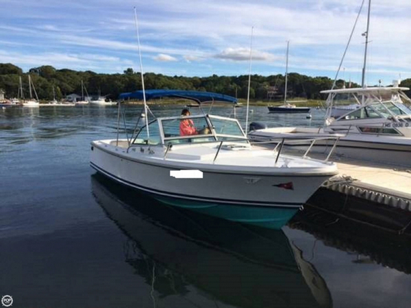 Used Hinterhoeller Limestone 24 Cruiser Boat For Sale