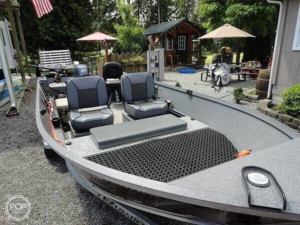 Used Alumaweld 16 Sport Skiff Fishing Boat For Sale