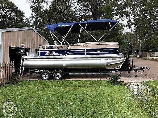 Used Sun Tracker 20DLX Party barge Pontoon Boat For Sale