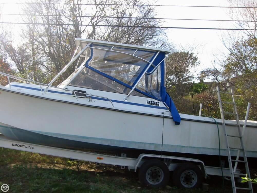 1986 Used Shamrock 260 Walkaround Fishing Boat For Sale