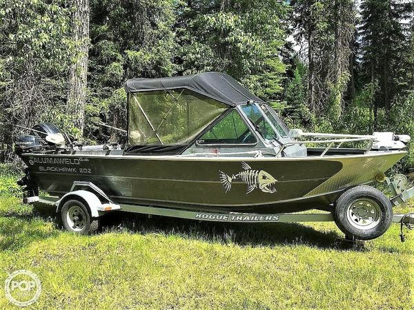 Used Alumaweld Blackhawk 202 Aluminum Fishing Boat For Sale