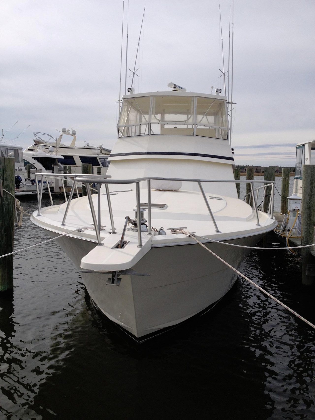 1989 used viking yachts 48 convertible fishing boat for for Used fishing boats for sale in md