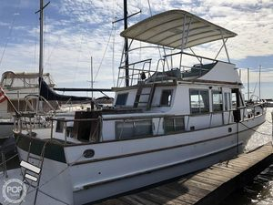 Used Marine Trader 37 Double Cabin Trawler Boat For Sale