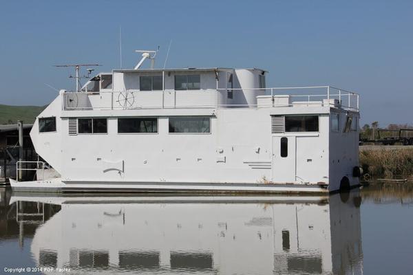 Used Custom Built House Boat For Sale