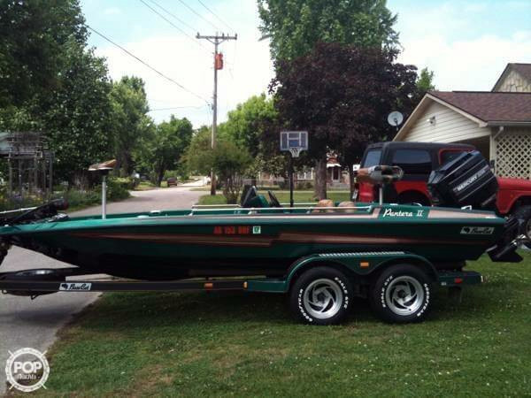 1994 used bass cat 19 pantera ii bass boat for sale for Bass fishing boats for sale