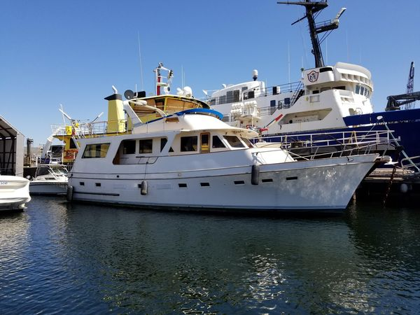 Used Angel 56 LRC Flush Deck Trawler M/Y Cruiser Boat For Sale