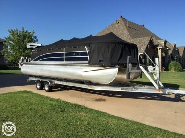 Used Harris Solstice 220 SL Tritoon Pontoon Boat For Sale