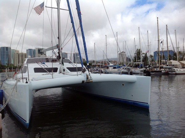 Used Custom Eric Lerouge Racing Catamaran Sailboat For Sale