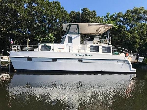 Used Endeavour Catamaran Trawler Cat 40 Power Catamaran Boat For Sale