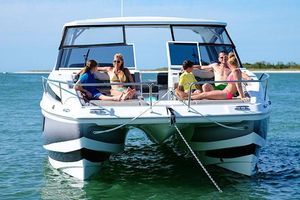 Used Aquila 36 Power Catamaran Boat For Sale