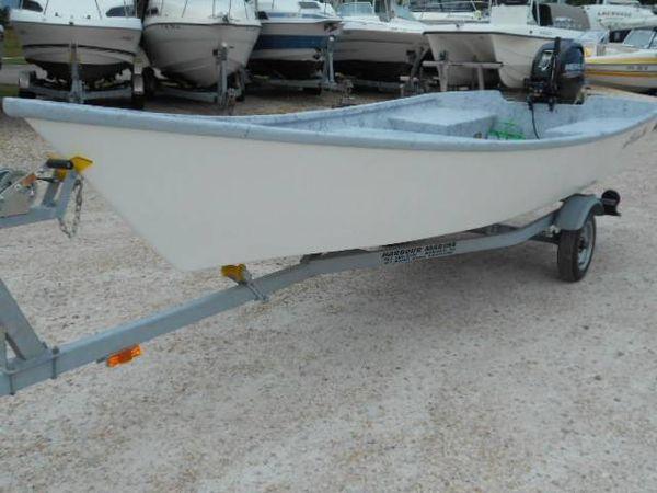 Used Bully Boat 15 ft tiller Skiff Boat For Sale