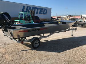 Used Rhino 16 wide jon Cruiser Boat For Sale
