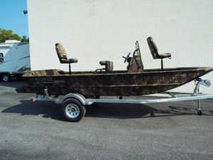 New Lowe Roughneck 1660 Pathfinder Tunnel Jet Jon Boat For Sale