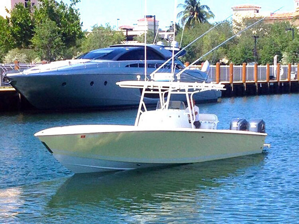 Used Jupiter Forward Seating Open Center Console Fishing Boat For Sale