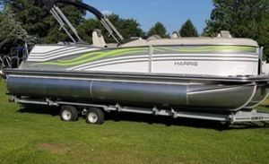 Used Harris 230 Grand Mariner SLEC Pontoon Boat For Sale