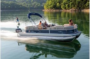 New Sun Tracker PARTY BARGE 22RF XP3 w/ Mercury 150Hp 4S Pontoon Boat For Sale