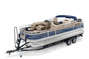 New Sun Tracker Signature Fishing Barge 22 w/115ELPT 4S CT Pontoon Boat For Sale