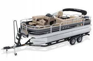 New Sun Tracker Signature Fishing Barge 20 w/90 ELPT 4S CT Pontoon Boat For Sale