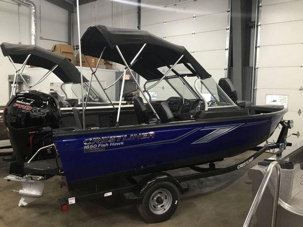 New Crestliner 1650 Fish Hawk Walk-through JS Freshwater Fishing Boat For Sale
