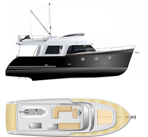 New Erman Yachting 44FT Trawler Yacht Trawler Boat For Sale
