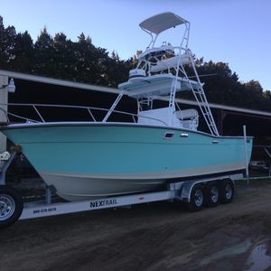 Used Topaz 28 Sportfish Freshwater Fishing Boat For Sale